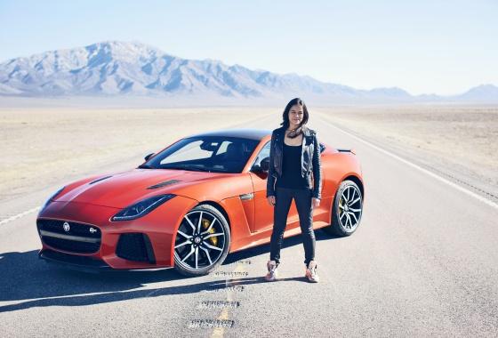Michelle Rodriguez hits 201 mph in the Jaguar F-Type SVR