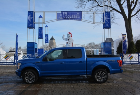 The 2015 Ford F-150: the versatile giant of the winter
