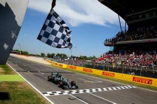 Rosberg gets first win in Spain